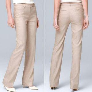 WHBM The Boot Cream Pants Career 6 Short